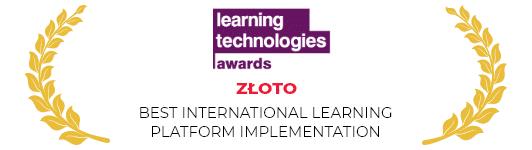 Złota nagroda learning technologies awards