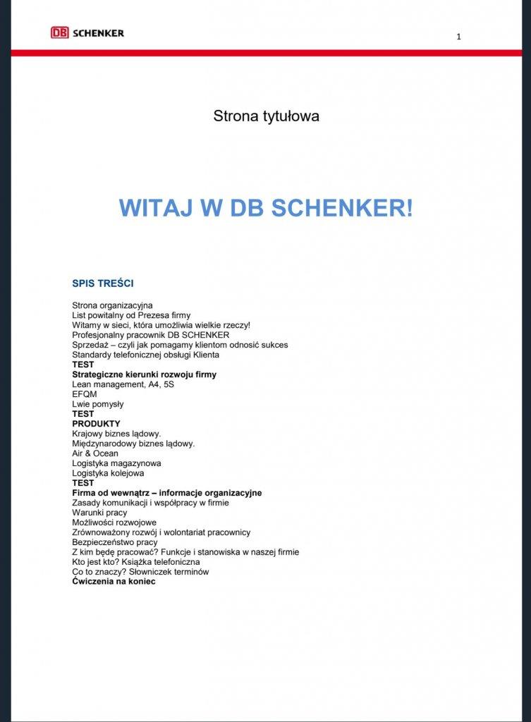ONBOARDING w DB SCHENKER